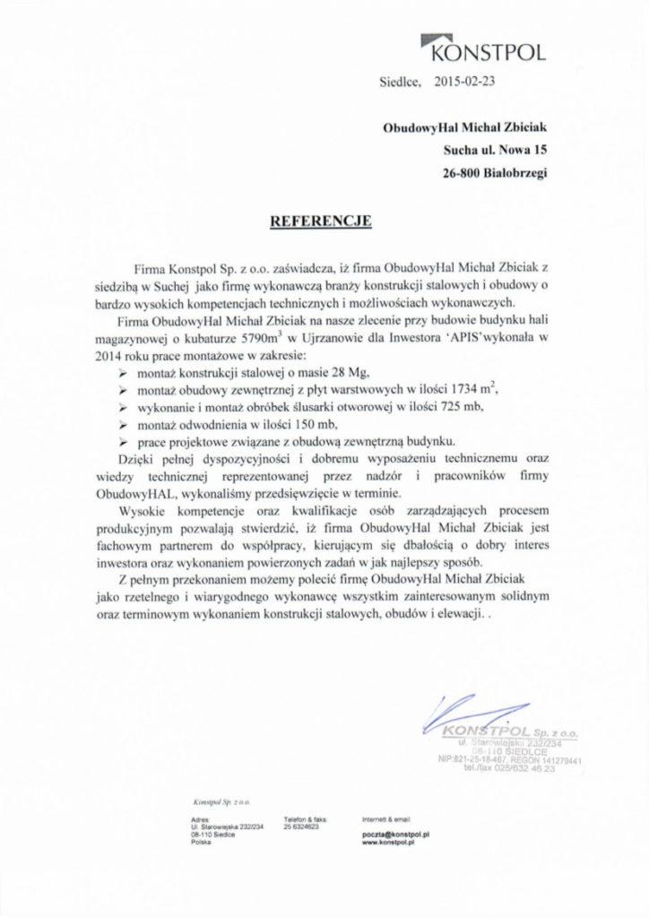 referencje Konstpol