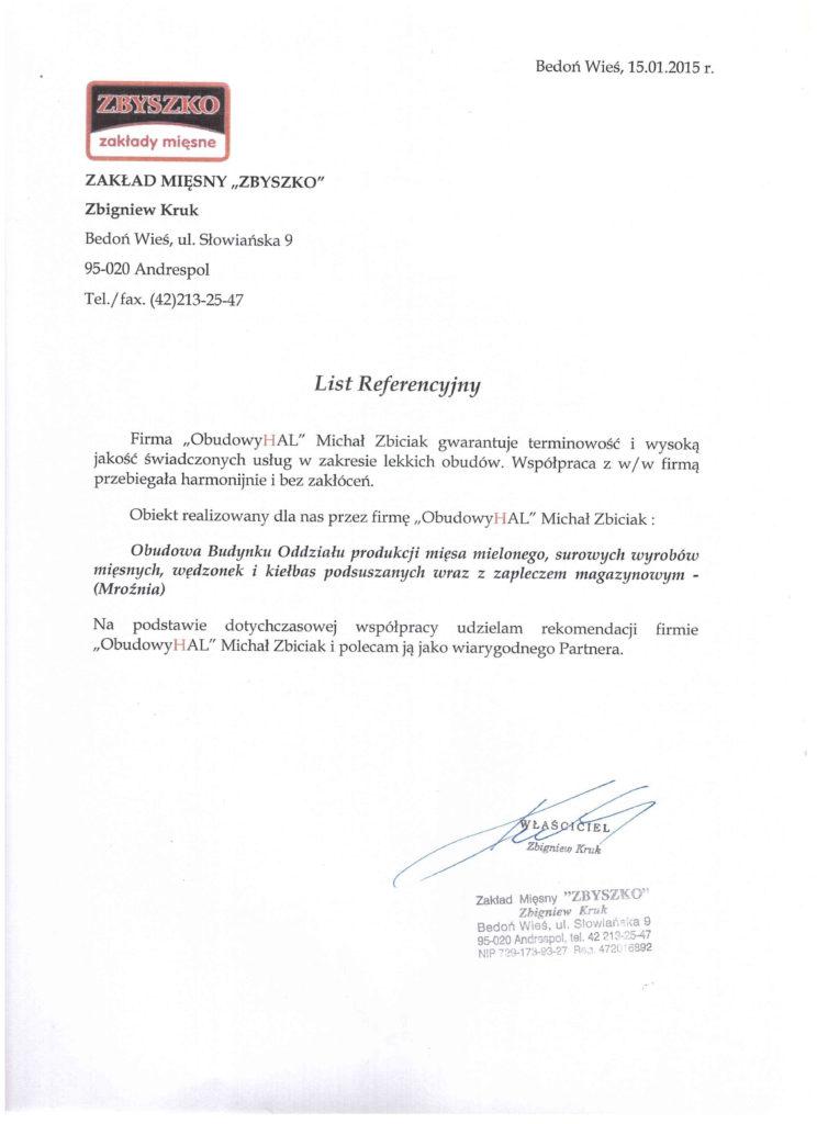 referencje zbyszko1